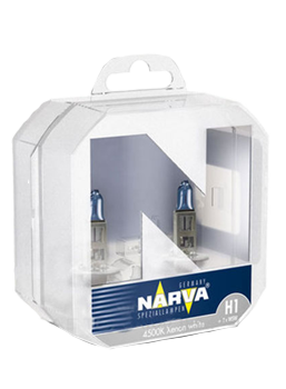 Галогенные лампы Narva лампа  H1 и W5W 12V 55W P14.5s RANGE POWER WHITE комплект 98014