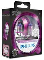 Галогенные лампы Лампа Philips H4 12V 60/55W P43t-38 ColorVision Purple SP 12342CVPPS2