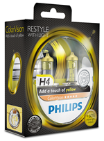 Галогенные лампы Лампа Philips H4 12V 60/55W P43t-38 ColorVision Yellow SP 12342CVPYS2