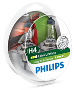 Галогенные лампы Лампа Philips H4 12V 60/55W P43t-38 Long Life EcoVision SP 12342LLECOS2