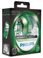 Галогенные лампы Лампа Philips H7 12V 55W PX26d ColorVision Green SP 12972CVPGS2